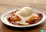 Apple tart and cinnamon ice cream