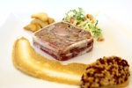 Terrine of wild boar with southern caviar, toasted hazelnuts and roasted apples